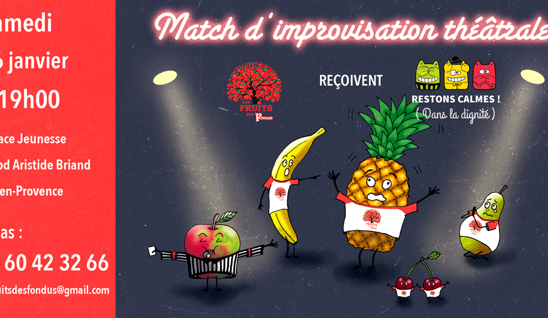 Match d'impro avec les Restons Calmes samedi 26 janvier