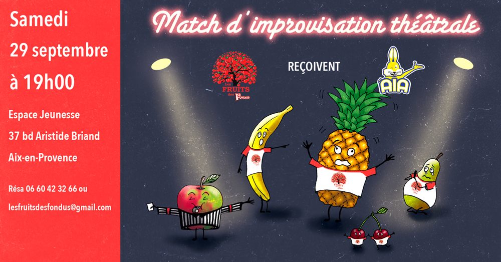Match d'impro avec les Restons Calmes samedi 26 janvier 2019